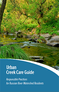 English Cover page of the Urban Creek Care Guide of responsible practices for Russian river watershed residents