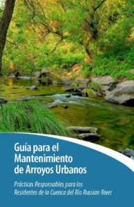 Spanish Cover page of the Urban Creek Care Guide of responsible practices for Russian river watershed residents