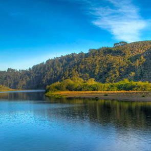 Scenic picture of the russian river