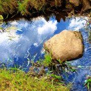 Rock in a waterway