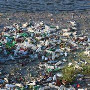 trash pile of bottles